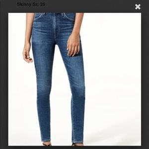 Citizens Of Humanity Chrissy Uber High Rise Skinny Jeans Size 27